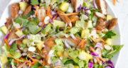 طرز تهیه سالاد هاوایی خوشمزه و شیرین و مجلسی با مرغ و آناناس