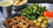 طرز تهیه کوکو کنگر ساده و خوشمزه با قارچ و سبزی بدون گوشت