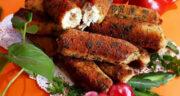 طرز تهیه رول مرغ سوخاری با پنیر خوشمزه و مجلسی مرحله به مرحله