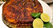 طرز تهیه ته انداز ماهی بوشهری خوشمزه با ماهی قزل آلا و سبزی پلو