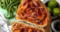 طرز تهیه تانتونی گوشت و قارچ ترکیه خوشمزه و آسان با نان لواش