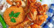 طرز تهیه ران مرغ کبابی مزه دار شده خوشمزه و مجلسی در فر