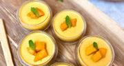 طرز تهیه پودینگ انبه ساده و خوشمزه با خامه و پودر ژلاتین
