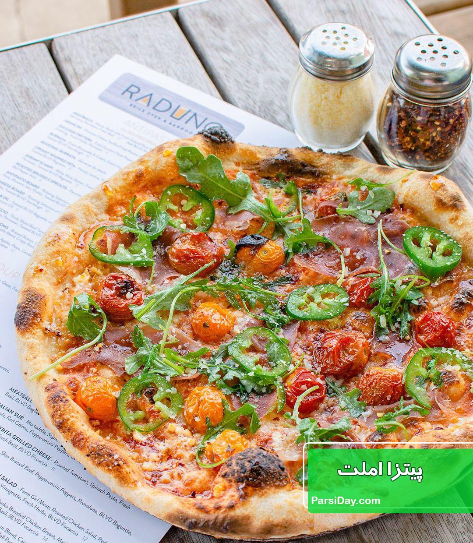 طرز تهیه پیتزا املت