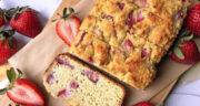 طرز تهیه نان توت فرنگی ساده و لذیذ با خامه مرحله به مرحله