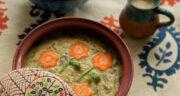 طرز تهیه آش هویج و جو همدانی خوشمزه و سنتی با گوشت چرخ کرده