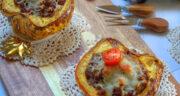 طرز تهیه دلمه کدو حلوایی ساده و خوشمزه با گوشت و پنیر پیتزا در فر