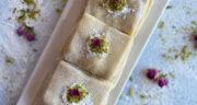 طرز تهیه حلوا ضیابری خوشمزه و محلی گیلانی با گردو، هل و دارچین