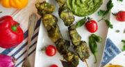 طرز تهیه جوجه کباب سبز خوشمزه با ماست و گردو و سبزی