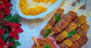 طرز تهیه کباب نگینی تابه ای خانگی خوشمزه و آسان با سیخ چوبی