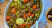 طرز تهیه خوراک تره فرنگی خوشمزه با گوشت و هویج و سیب زمینی