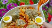 طرز تهیه کوفته کشک اصفهانی خوشمزه با گوشت و سیب زمینی