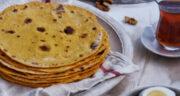 طرز تهیه نان کشتا گیلانی خانگی خوشمزه تابه ای با پوره کدو حلوایی