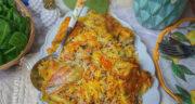 طرز تهیه ریحان پلو خوشمزه و زعفرانی و پر خاصیت با مرغ