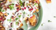 طرز تهیه فته بادمجان عربی خوشمزه با سیب زمینی و سس مخصوص