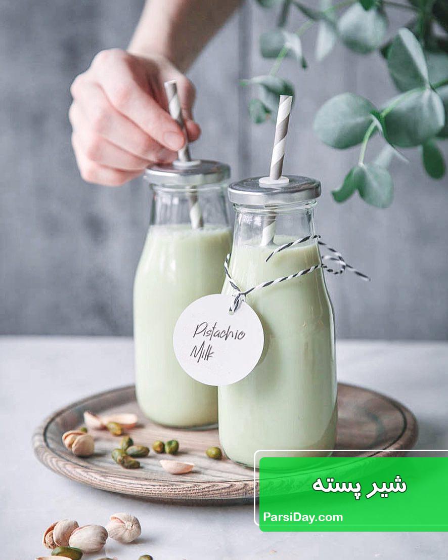 طرز تهیه شیر پسته