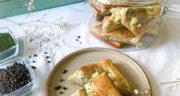 طرز تهیه نان شوید و پنیر خانگی و رژیمی ترکیه با خمیر مایه