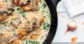 طرز تهیه مرغ فلورنتین ایتالیایی ساد و خوشمزه با اسفناج و خامه