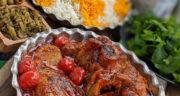 طرز تهیه خورش بادمجان با گوشت و غوره خوشمزه، مجلسی و ساده