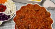 طرز تهیه خورش قیمه کرفس ساده و مجلسی با گوشت و لپه و رب