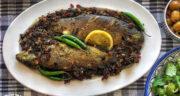 طرز تهیه ماهی شکم پر بدون فر مجلسی و خوشمزه مرحله به مرحله