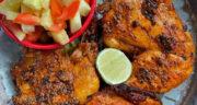 طرز تهیه مرغ تندوری هندی ساده و با طعمی عالی با ماست در فر