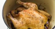 طرز تهیه مرغ شکم پر در قابلمه و بدون فر با رب انار مرحله به مرحله