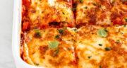 طرز تهیه لازانیا ساده با سویا و قارچ و سس بشامل خوشمزه