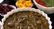 طرز تهیه قورمه سبزی با لوبیا چشم بلبلی و گوشت به روش شمالی