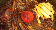 طرز تهیه خورش ته بیران گیلانی محلی و خوشمزه با مرغ و بادمجان