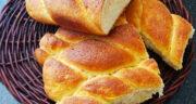 طرز تهیه نان تویستی خانگی ساده با شیر و خامه و خمیر مایه فوری