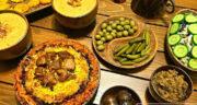 طرز تهیه پلو بخارا ساده و لذیذ و مجلسی با گوشت و هویج و کشمش